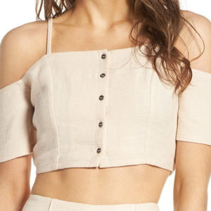 New ASTR the Label - Off the Shoulder Crop Top NWT